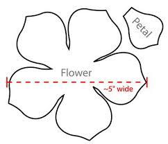 flower petal template diy printable flower templates pdf petal
