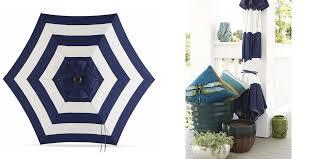 Patio Umbrellas At Lowes by Lowes 24 Reg 48 Garden Treasures Navy Stripe Market Patio