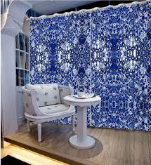 online get cheap modern knitting patterns free aliexpress com photo customize size 3d curtains gravel blue curtains modern home decor pattern decoration china