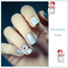 snowman nail art design youtube snowman nail art designs best