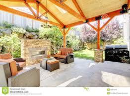 patio fireplace binhminh decoration