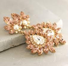 Pink Chandelier Earrings Swarovski Pearl Blush Pink Chandelier Earrings Bridal