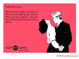 Single Valentine Meme - what valentine s day on the fence