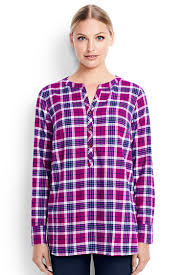 s sleeve flannel tunic top from lands end