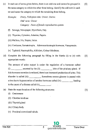 icse 2016 biology science paper 3 class 10 board question