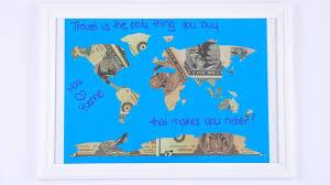 Money Wedding Gift Wedding Money Gift For Honeymoon World Map Out Of Dollar Bills