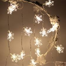kcasa 1m 10led snowflake led string lights for
