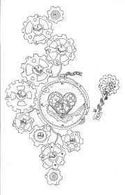 gear and clock tattoo designs pictures to pin on pinterest