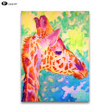 online shop chenfart art canvas animal wall painting colorful