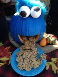 cute halloween ideas cookie monster pumpkin cookie monster and