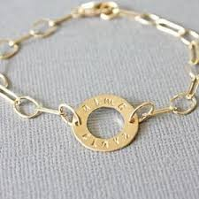 bracelet with name personalized gold washer ring circle bracelet with name braclet