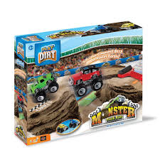 monster truck race play dirt monster truck rally set the animal rescue site