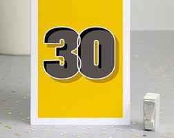 30th birthday delivery 30th birthday card etsy