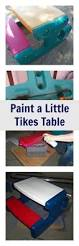 Little Tikes Fold And Store Picnic Table Manual by Diy Project Spray Paint Plastic Little Tikes Outdoor Toys