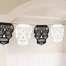 Halloween Day Decoration Halloween Day Of The Dead Skull Garland Laser Cutting