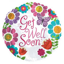 get well soon and balloons cti 17 inch get well soon girl foil balloon from category get well