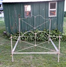 antique steel bed frame wrought iron bed frame civil war era