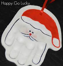 handmade keepsake santa handprint ornament santa handprint