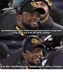 Ben Roethlisberger Meme - ben roethlisberger and his brother have the same amount of super
