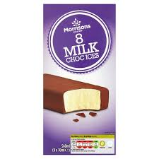ices cuisine morrisons morrisons choc ices 8 x 70ml product information