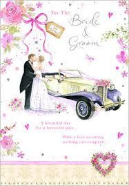 Wedding Day Greetings Bride U0026 Groom Wedding Day Greeting Card