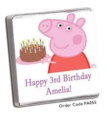 peppa pig birthday pig birthday chocolates chunky monkey chocolate