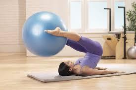 amazon com stott pilates stability plus ball with pump