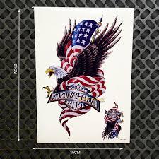 american flag eagle waterproof tattoo body art sleeve arm tattoo