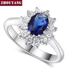 blue crystal rings images Zhouyang princess kate blue gem created blue crystal silver color jpg