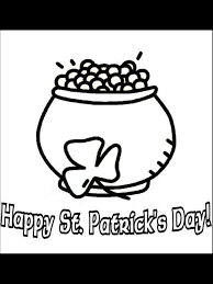 st patrick u0027s day coloring page pot of gold primarygames play