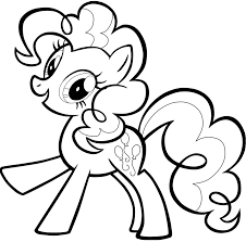 popular pony pinkie pie coloring pag 3444 unknown