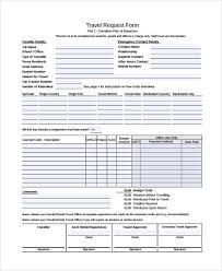 travel request form template template idea