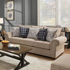 Transitional Sofas Furniture Simmons Upholstery 7592br Transitional Sofa With Rolled Arms