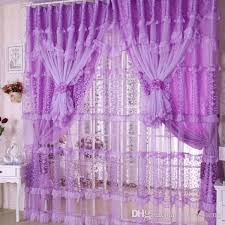 Pink And Purple Curtains 2018 Handmade Lace Curtain For Room Pink Purple Lace Sheer