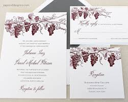 vineyard wedding invitations vineyard wedding invitations winery wedding invitation grapevine