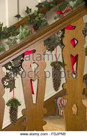 Christmas Decorations Banister Traditional Victorian Christmas Decorations Made Of Fir Cones On