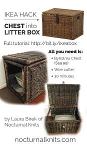 ikea cat litter box hack turn a cheap chest into custom cat box