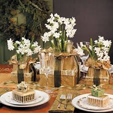 Gold Christmas Centerpieces - holiday centerpieces steller kitchen