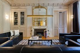 an intricate luxury apartment in the city of lights