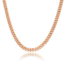 plated rose gold necklace images 2018 fashion rose gold color necklace nakelulu brand 7mm cuba jpg