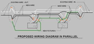 wiring fluorescent lights in parallel diagram diagram wiring