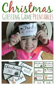 Games To Play In Christmas Parties - christmas guessing game printables family game night game night