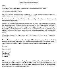 download scholarship thank you letter templates samples wikidownload