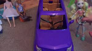 barbie cars with back seats barbie doll suv reveal seats 4 youtube