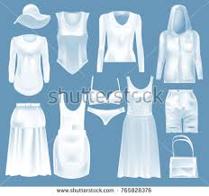 s blouse set mockup s clothes blouse stock vector 765828376
