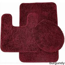 Square Bathroom Rug Florence 3 Bathroom Rug And Toilet Seat Cover Set Assorted