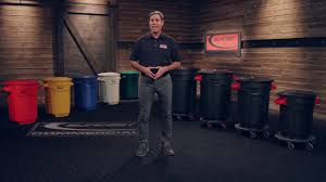 suncast commercial utility trash can youtube