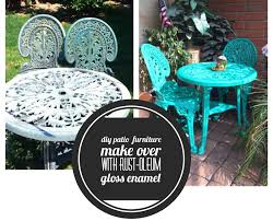Remove Rust From Outdoor Furniture by Keep Calm And Craft On Diy Refurbished Patio Furniture Make Over
