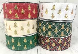 christmas ribbon wholesale 1 5 gold christmas trees christmas ribbon us designer ribbon