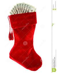 Stocking Christmas Christmas Stocking With Money Stock Photo Image 44981020